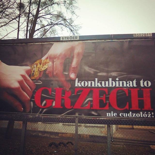 Tak wygląda billboard w Gdańsku
