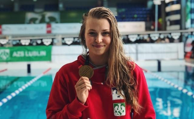 Dominika Kulaga jest jedną z czołowych polskich sprinterek, co udowodniła na Akademickich Mistrzostwach Polski w Pływaniu w Lublinie