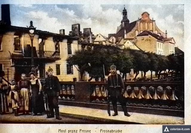 Tak wyglądał Kalisz po zburzeniu w 1914 roku