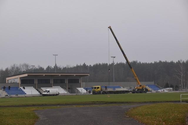 Przebudowa stadionu miejskiego w Śremie - fotorelacja z pierwszego etapu modernizacji stadionu przy ul. Poznańskiej
