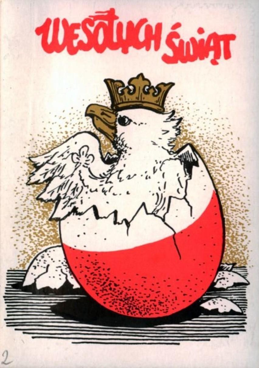 Kartka wielkanocna z 1990 r. (data orientacyjna), Zbiór...