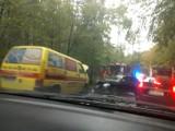 Wypadek na drodze Rumia-Łężyce. Pasażerka trafiła do szpitala [ZDJĘCIA CZYTELNIKA]