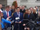 Rafał Trzaskowski kandydatem PO na prezydenta. W 2018 roku odwiedził Kalisz i poparł Dariusza Grodzińskiego ZDJĘCIA