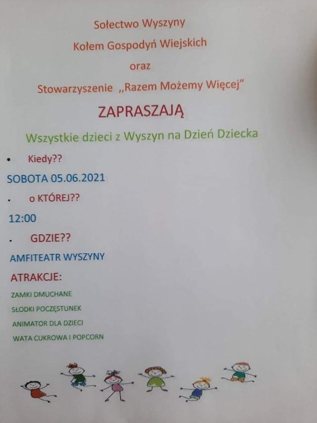 Lokalnie pamięta o najmłodszych sołectwo Wyszyny. Imprezy zaplanowano na 5 czerwca.