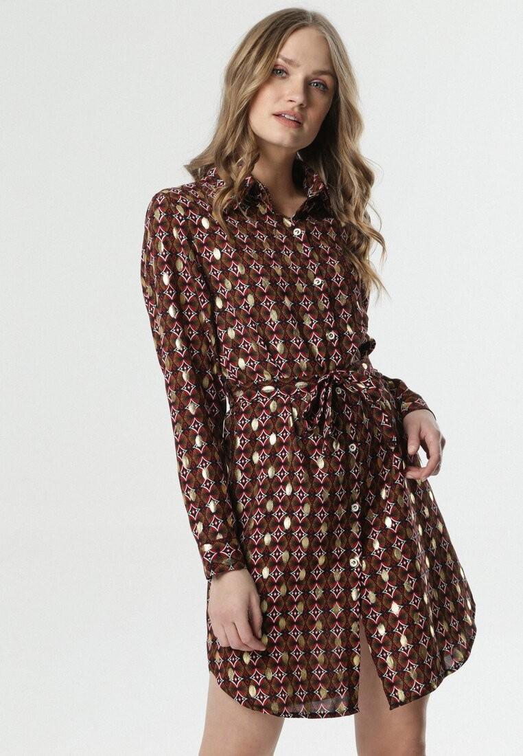 Czarno-Bordowa Sukienka Sannah