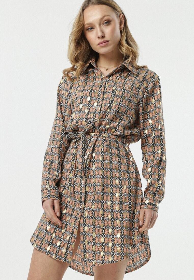 Zielono-Beżowa Sukienka Sannah