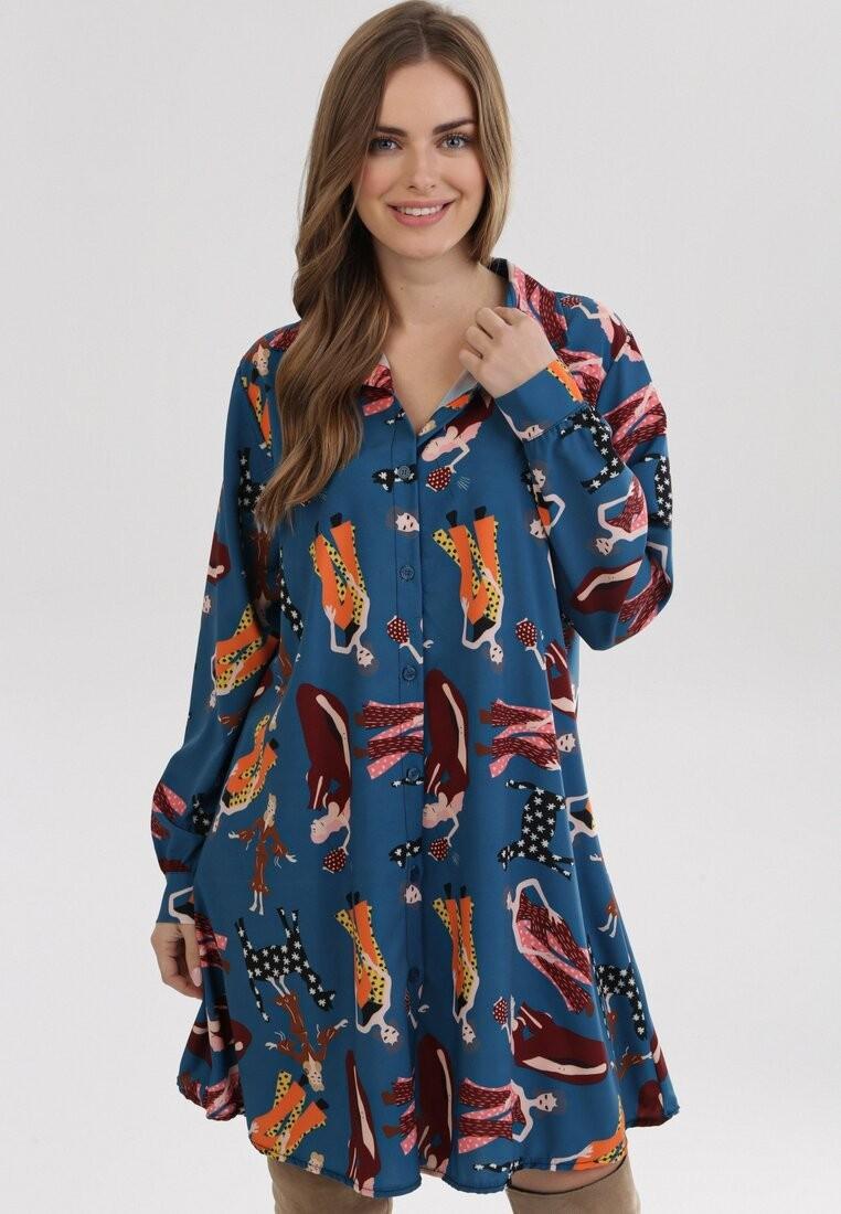 Niebieska Sukienka Sweetmello