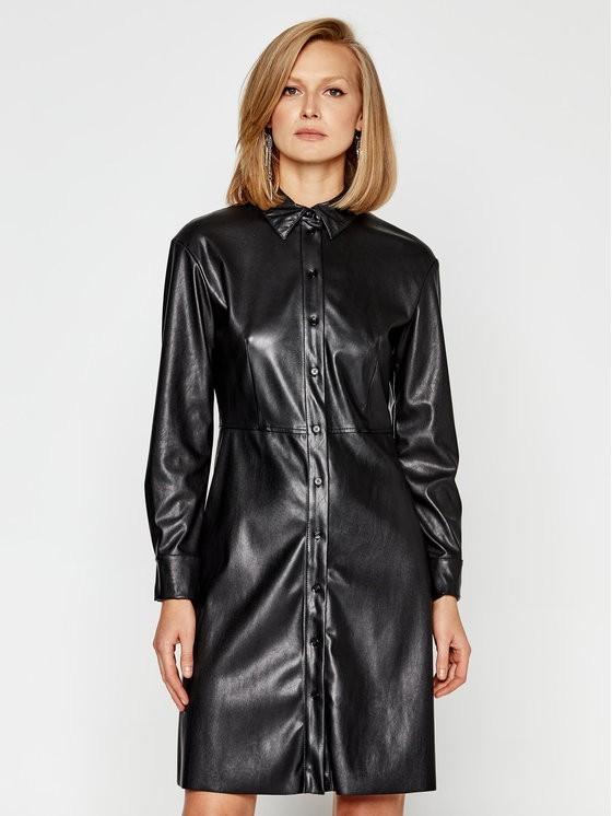 MAX&Co. Sukienka skórzana Danubio 66249520 Czarny Regular Fit