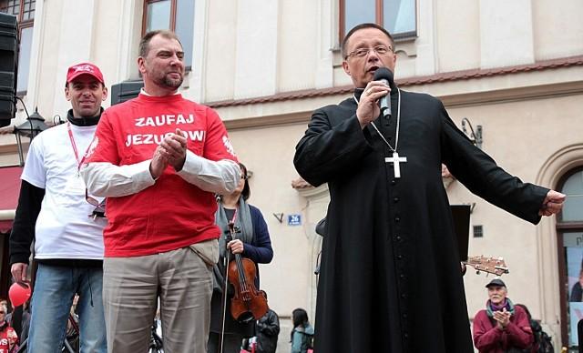 Marsz dla Jezusa w Krakowie.