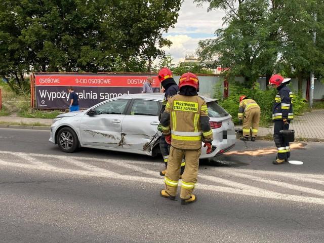 Wypadek na ulicy Węglowej we Włocławku