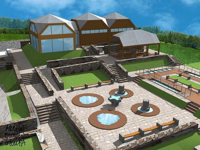 Pod potrzeby Parku Zdrojowego zagospodarowywane jest ponad 8 hektarów terenu w sąsiedztwie Skamieniałego Miasta