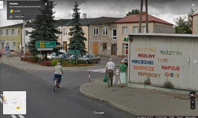 Google Street View przyłapał mieszkańców Izbicy Kujawskiej