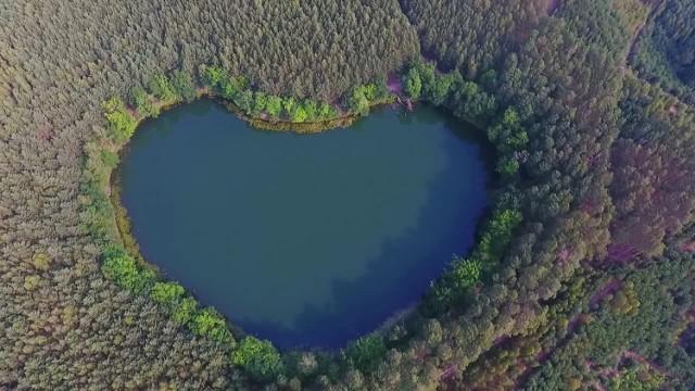 Niezwykłe jezioro w kształcie serca leży 30 km od Świebodzina