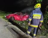 Wypadek w Szadku na ul. Glinianki. Samochodem jechali nastolatkowie ZDJĘCIA