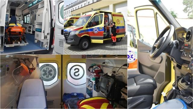 Tabor tarnowskiego pogotowia to w większości pojazdy nowe, góra kilkuletnie. Przybywa wśród nich ambulansów koloru żółtego