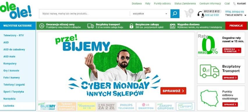 Cyber Monday 2017 SKLEPY. Promocje w sklepach internetowych [CYBER poniedziałek 27.11. 2017]