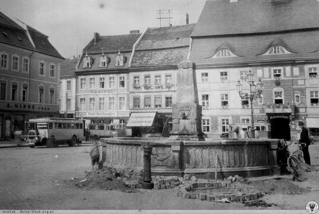 Tak wyglądała główna fontanna w Krośnie Odrzańskim
