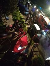 Tragiczny pożar w Sieradzu. Jedna osoba nie żyje, jedna jest poszkodowana ZDJĘCIA