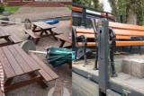 Wyrwane ławki i kwiaty, zdewastowane kosze oraz parasole. Wandale zdemolowali park w Sławie