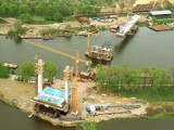 Tak budowano most Milenijny we Wrocławiu (ZDJĘCIA)