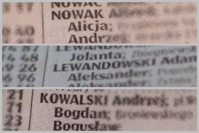 Ile osób w powiecie radziejowskim nosi popularne nazwiska