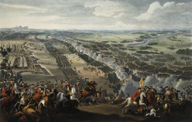 Bitwa pod Połtawą w 1709 r. na obrazie Pierre'a-Denisa Martina. Ta pod Krotoszynem była epilogiem Połtawy.