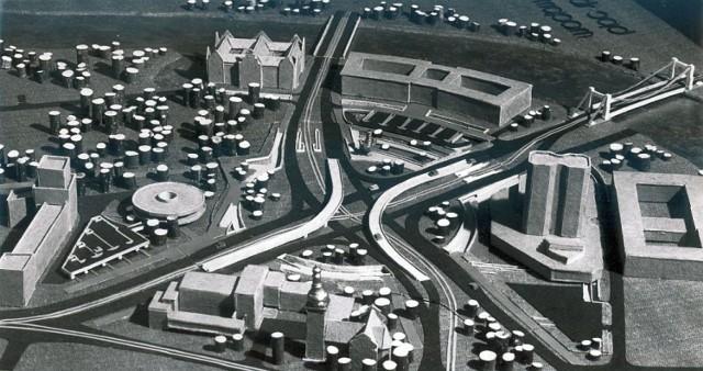 Jeden z licznych projektów zabudowy placu Społecznego