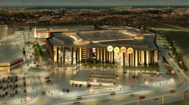 Estakada prowadząca do nowego centrum handlowego może zniszczyć pobliską ścieżkę rowerową i chodnik