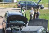 Zderzenie 4 pojazdów przez plamę oleju. Czy kierowca był winny? [ZDJĘCIA]