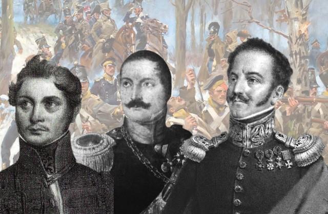 Od lewej: Walenty Nasierowski (1802-1888), Franciszek Gajewski (1792-1868) i Jan Nepomucen Umiński (1778-1851)