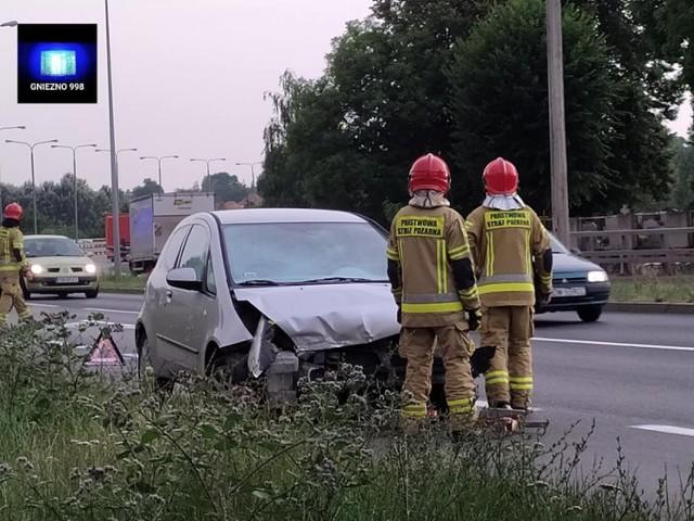 Gniezno: wypadek na Trasie Zjazdu Gnieźnieńskiego