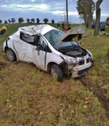 Wypadek w okolicy Czerwonej Wsi. Kierowca trafił do szpitala [FOTO]