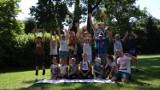 Sport i rekreacja, czyli półkolonie w gminie Dobrzyca. W zajęciach wzięło udział 120 dzieci