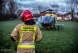 LPR lądował w Trzemesznie. Niestety mężczyzna zmarł [ZDJĘCIA]