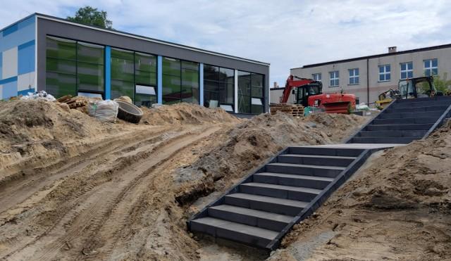 Budowa pasywnego basenu i hali w Sulejowie, lipiec 2021