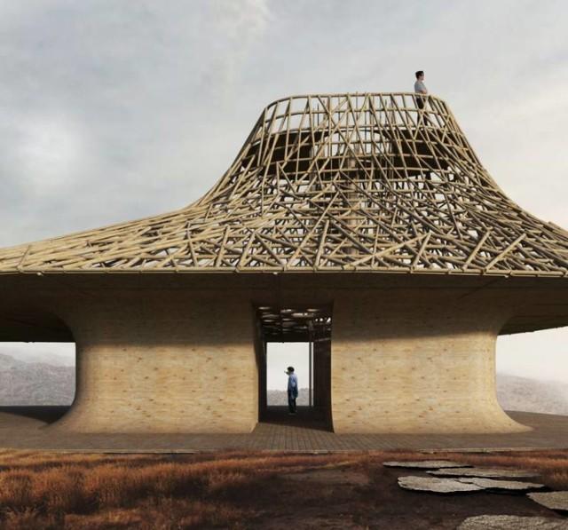 Oto zwycięski budynek zaprojektowany przez Szymona Króla, studenta wrocławskiej Politechniki