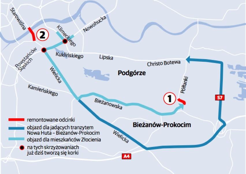 Krakow Rozpoczal Sie Remont Na Pollanki Objazdy Mapa Wideo