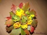 Jesienne róże z klonowych liści - zrób to sam
