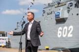 Prezydent Andrzej Duda w Gdańsku. Odwiedził stocznię Remontowa Holding. Powstaną trzy nowe fregaty dla Marynarki Wojennej