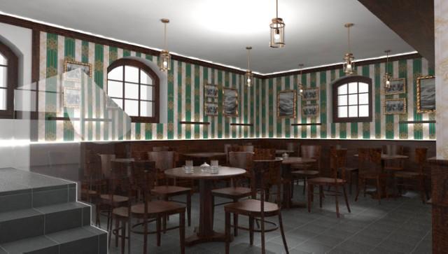 Projekt kawiarenki w Muzeum Powstań Śląskich