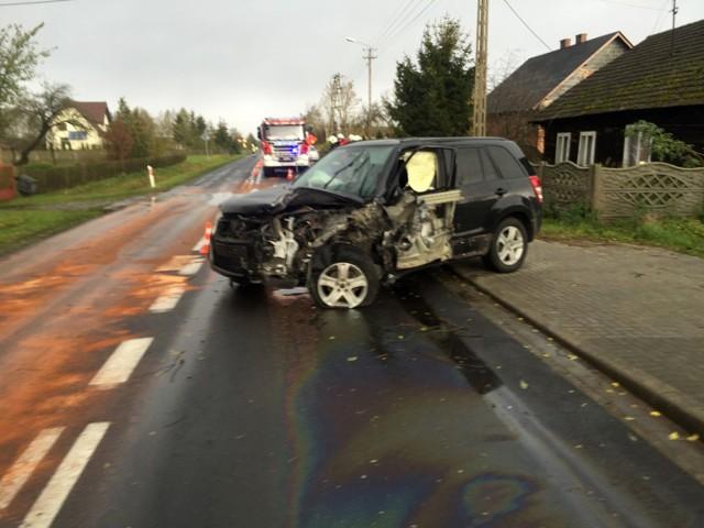 Wypadek w Ostrowie Kaliskim. Pięć osób w szpitalu