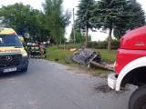 Poranna akcja strażaków. Trzy poszkodowane w wypadku osoby trafiły do gorlickiego szpitala