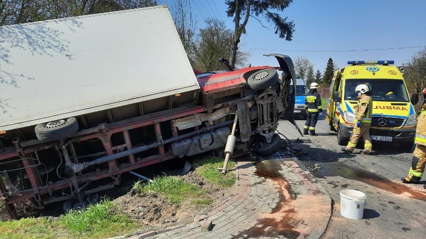 Wypadek w Skarszewie pod Kaliszem