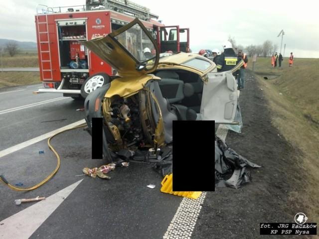 Wypadek na obwodnicy Paczkowa. Zginęła jedna osoba