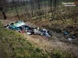 Gorzyce: Wstyd! Dzikie wysypisko śmieci! Opony, worki z odpadami, pozostałości po basenie. To sprawka 23-latka