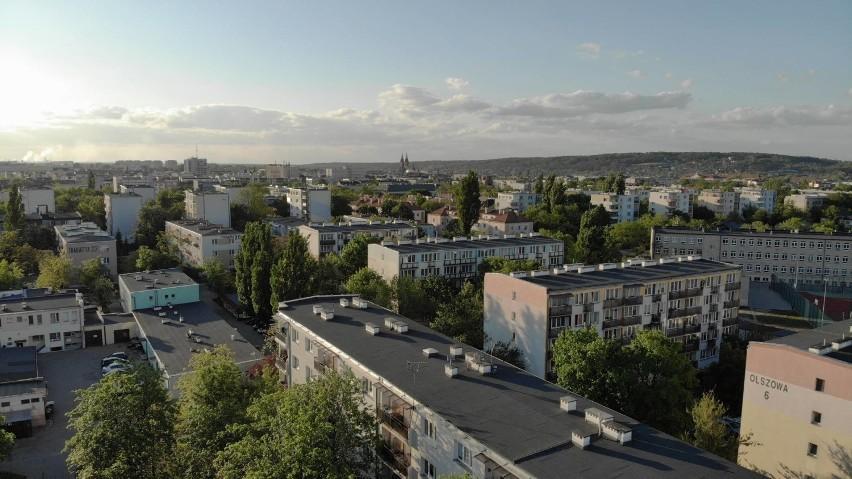 Tak wyglądają Śródmieście i osiedle Kazimierza Wielkiego we Włocławku z lotu ptaka [zdjęcia]