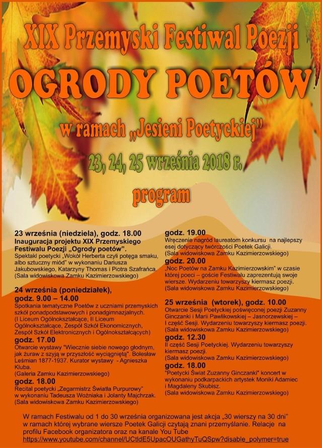 Wkrótce Rozpocznie Się Przemyski Festiwal Poezji Ogrody