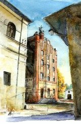 Poznajesz te miejsca w Piotrkowie? Piotrków Trybunalski na akwarelach i rysunkach Andrzeja Hoffmana