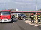 Zabrze: Wypadek na DTŚ. Zderzyły się trzy samochody