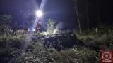 Na trasie Biadki - Jasne Pole spalił się doszczętnie samochód osobowy [ZDJĘCIA]